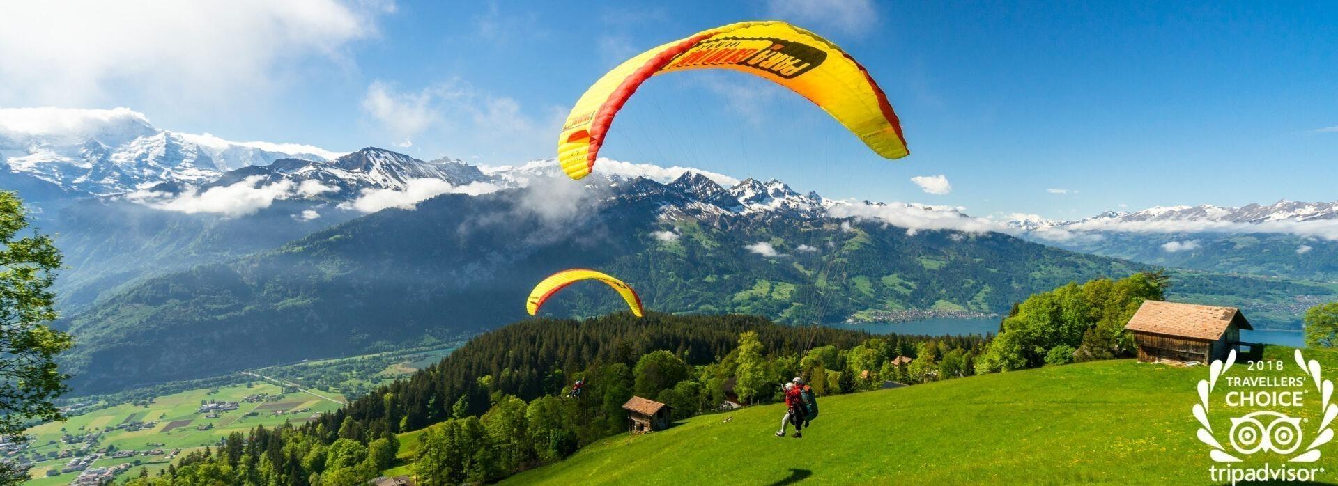 Things to do in Interlaken. Paragliding Interlaken